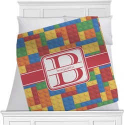 "Building Blocks Fleece Blanket - Twin / Full - 80""x60"" - Single Sided (Personalized)"