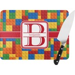 Building Blocks Rectangular Glass Cutting Board (Personalized)