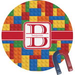 Building Blocks Round Magnet (Personalized)