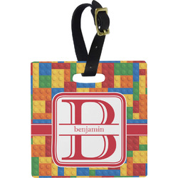 Building Blocks Square Luggage Tag (Personalized)
