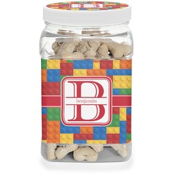 Building Blocks Pet Treat Jar (Personalized)