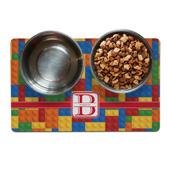 Building Blocks Dog Food Mat (Personalized)