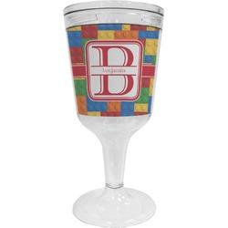 Building Blocks Wine Tumbler - 11 oz Plastic (Personalized)