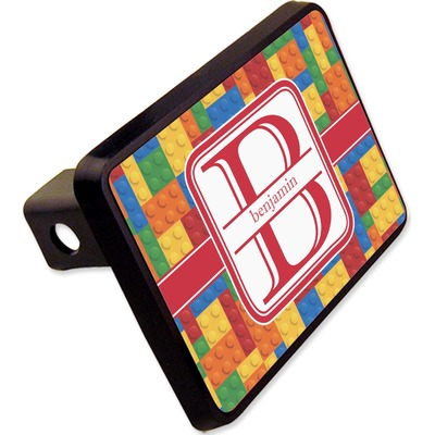 """Building Blocks Rectangular Trailer Hitch Cover - 2"""" (Personalized)"""