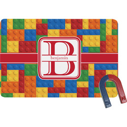 Building Blocks Rectangular Fridge Magnet (Personalized)