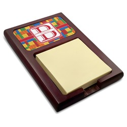 Building Blocks Red Mahogany Sticky Note Holder (Personalized)