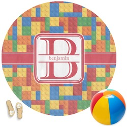 Building Blocks Round Beach Towel (Personalized)