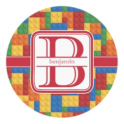 Building Blocks Round Decal - Custom Size (Personalized)