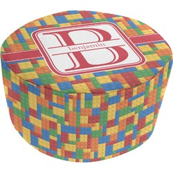 Building Blocks Round Pouf Ottoman (Personalized)