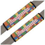 Building Blocks Seat Belt Covers (Set of 2) (Personalized)