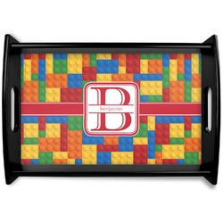 Building Blocks Black Wooden Tray (Personalized)