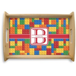 Building Blocks Natural Wooden Tray (Personalized)