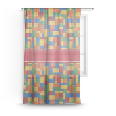 Building Blocks Sheer Curtains (Personalized)
