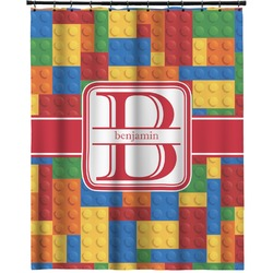 """Building Blocks Extra Long Shower Curtain - 70""""x84"""" (Personalized)"""