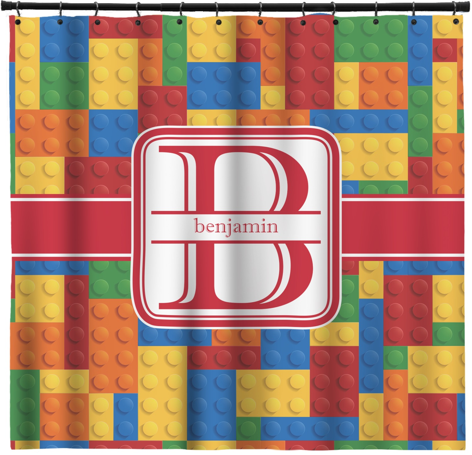 Building Blocks Shower Curtain Custom Width Height Personalized Youcustomizeit