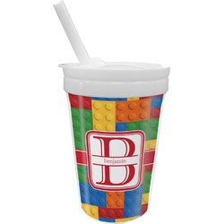 Building Blocks Sippy Cup with Straw (Personalized)