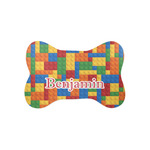 Building Blocks Bone Shaped Dog Food Mat (Small) (Personalized)