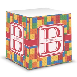 Building Blocks Sticky Note Cube (Personalized)