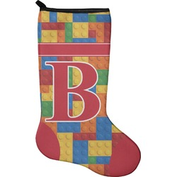 Building Blocks Christmas Stocking - Neoprene (Personalized)