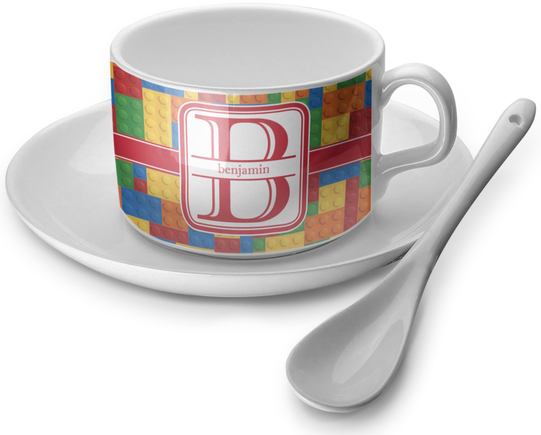 Building blocks tea cup single personalized