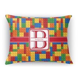 Building Blocks Rectangular Throw Pillow Case (Personalized)