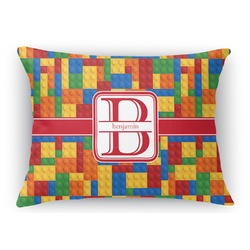 "Building Blocks Rectangular Throw Pillow Case - 12""x18"" (Personalized)"