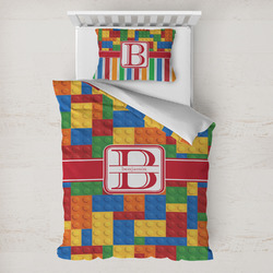 Building Blocks Toddler Bedding w/ Name and Initial