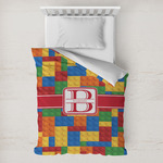 Building Blocks Toddler Duvet Cover w/ Name and Initial