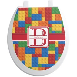 Building Blocks Toilet Seat Decal (Personalized)