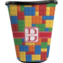 Building Blocks Waste Basket - Double Sided (Black) (Personalized)