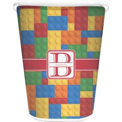 Building Blocks Waste Basket - Double Sided (White) (Personalized)