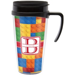 Building Blocks Travel Mug with Handle (Personalized)
