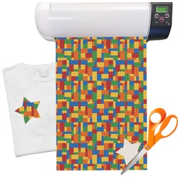 "Building Blocks Heat Transfer Vinyl Sheet (12""x18"")"
