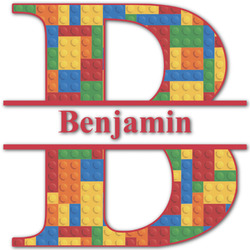 Building Blocks Name & Initial Decal - Custom Sized (Personalized)