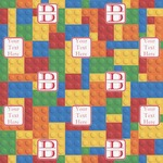 Building Blocks Wrapping Paper (Personalized)