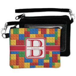 Building Blocks Wristlet ID Case w/ Name and Initial