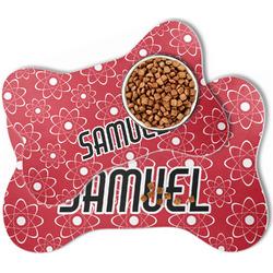 Atomic Orbit Bone Shaped Dog Food Mat (Personalized)