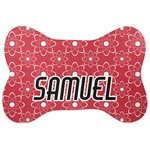 Atomic Orbit Bone Shaped Dog Food Mat (Personalized)
