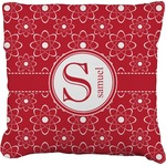 Atomic Orbit Faux-Linen Throw Pillow (Personalized)