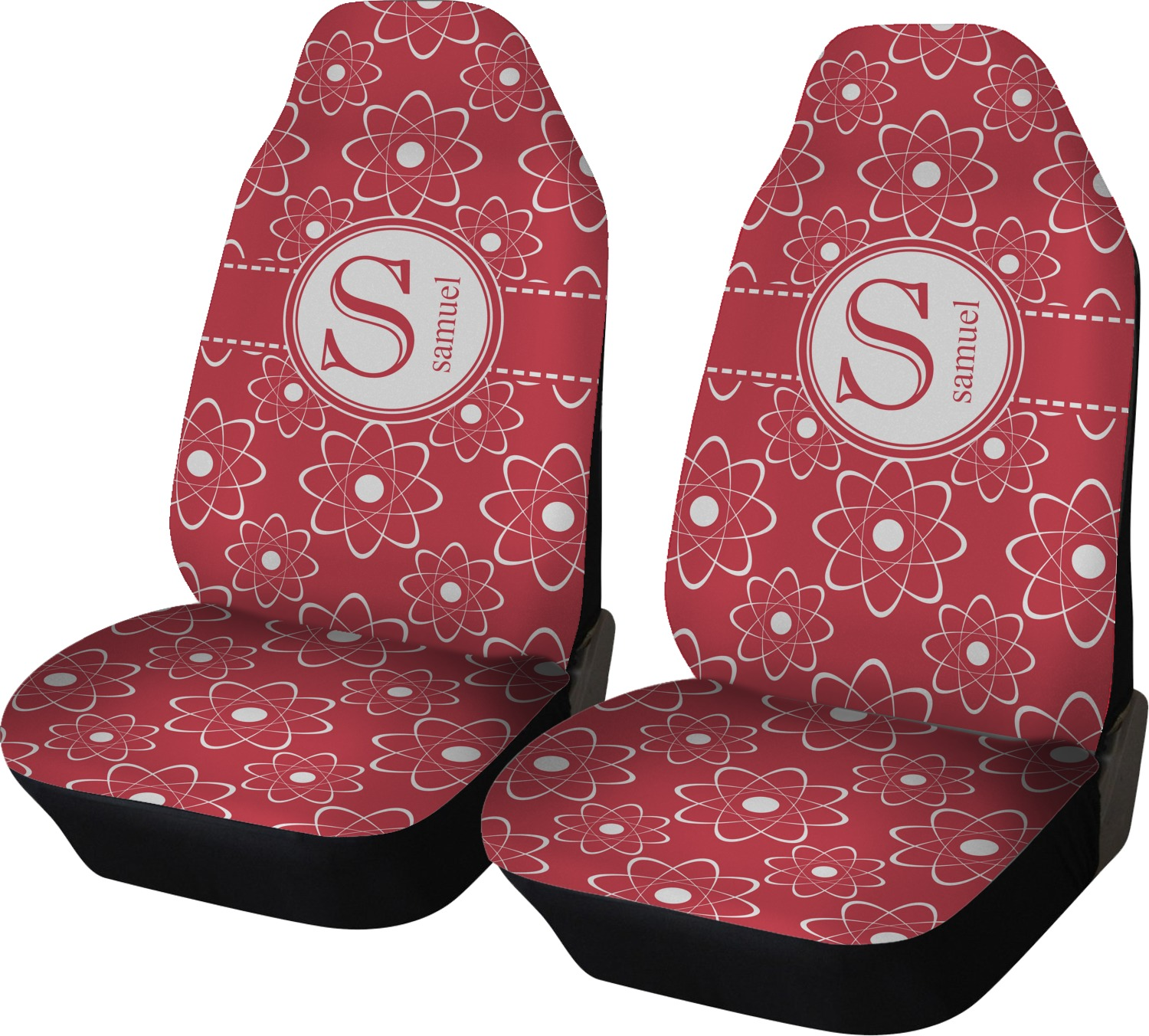 Atomic Orbit Car Seat Covers Set Of Two Personalized