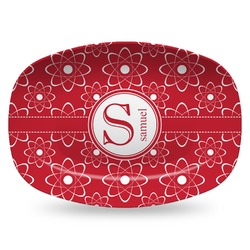 Atomic Orbit Plastic Platter - Microwave & Oven Safe Composite Polymer (Personalized)
