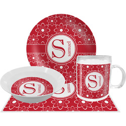 Atomic Orbit Dinner Set - 4 Pc (Personalized)