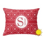 Atomic Orbit Outdoor Throw Pillow (Rectangular) (Personalized)