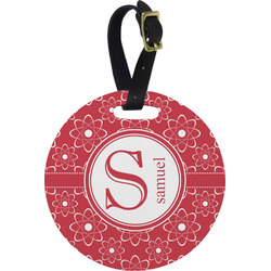 Atomic Orbit Round Luggage Tag (Personalized)