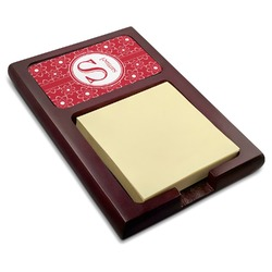 Atomic Orbit Red Mahogany Sticky Note Holder (Personalized)
