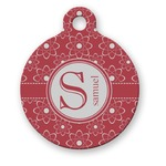 Atomic Orbit Round Pet Tag (Personalized)