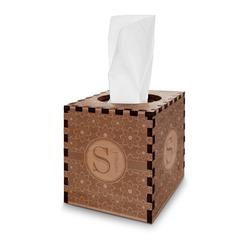 Atomic Orbit Wooden Tissue Box Cover - Square (Personalized)