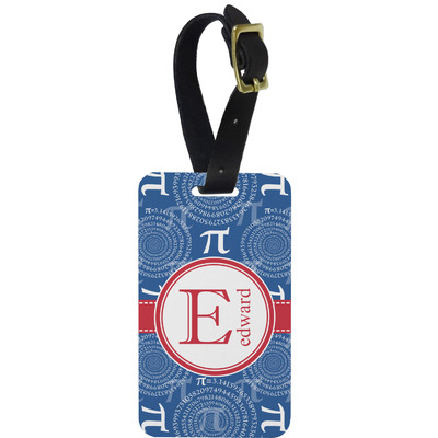 PI Metal Luggage Tag w/ Name and Initial