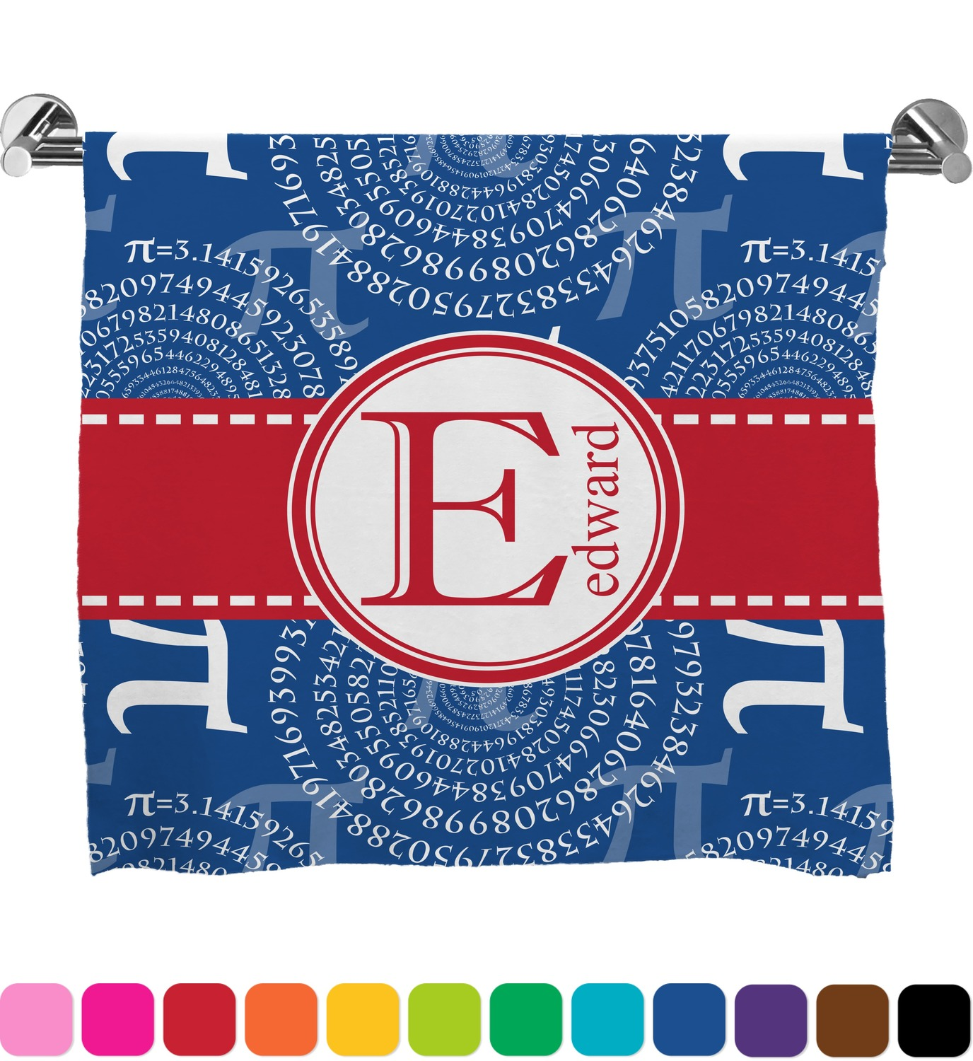 Pi full print bath towel personalized youcustomizeit for Full name of pi