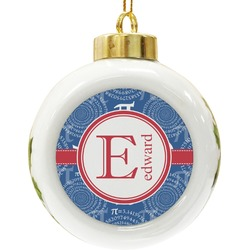 PI Ceramic Ball Ornament (Personalized)